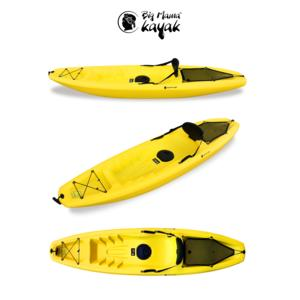 GIL Big Mama Kayak - Canoa Da 266 Cm + 1 Gavone + 1 Pagaia + 1 Seggiolino + 1 Ruotino (Colore Giallo)
