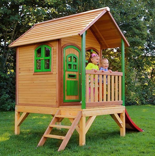 Casetta legno casetta bambini casetta con scala casetta for Casette da giardino per bambini