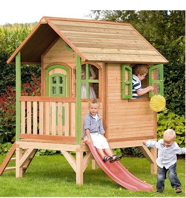 Casetta legno casetta bambini casetta con scala casetta for Piani di case in cedro