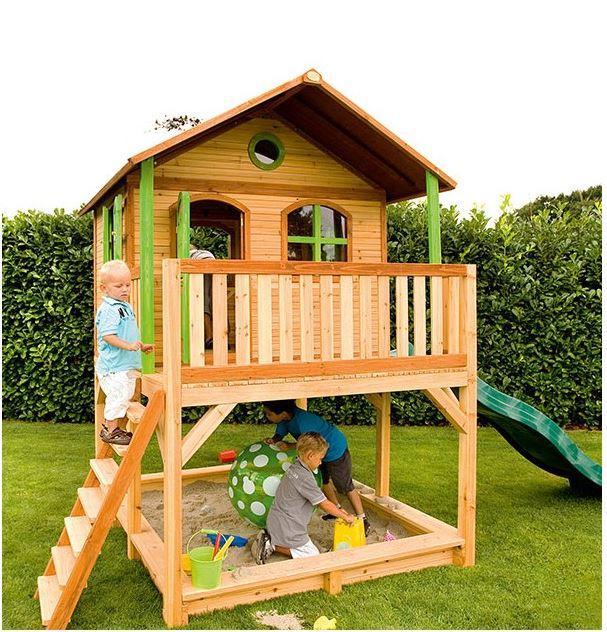 Casetta axi casetta con sabbiera casetta con scala for Casa legno bambini
