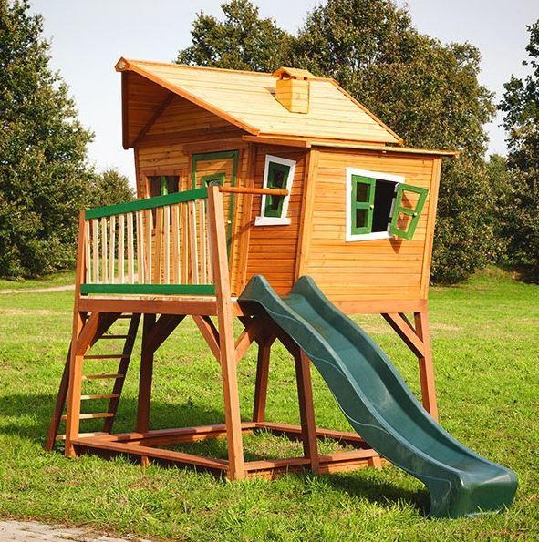 Casetta legno casetta bambini casetta con scala axi max for Casette in legno da giardino ikea