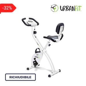 Cyclette Richiudibile Life Compact Con Schienale E Doppio Manubrio Slim - Urban Fit - Portata 110 Kg