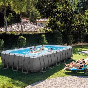 Piscina INTEX 28362 ultraframe rettangolare misura 732 x 366 x 132 cm con pompa sabbia 28362 modello NUOVO