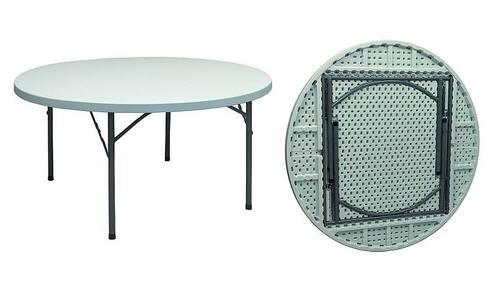 Tavolo rotondo gambe pieghevoli PIANO FISSO per catering diam 150 pieghevole per catering e feste SOTTOCOSTO