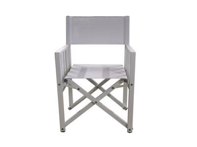 Sedia Da Giardino Livorno 56x51 Cha 30 Alluminio Sandy Bianco E Textilene