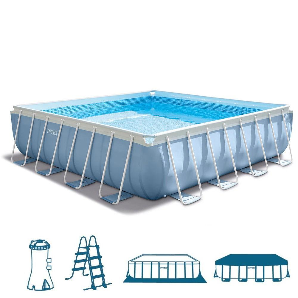 La piscina fuori terra quadrata intex 28766 della linea for Piscine portante