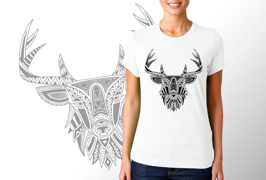 T-shirt Cervo etnico/Donna