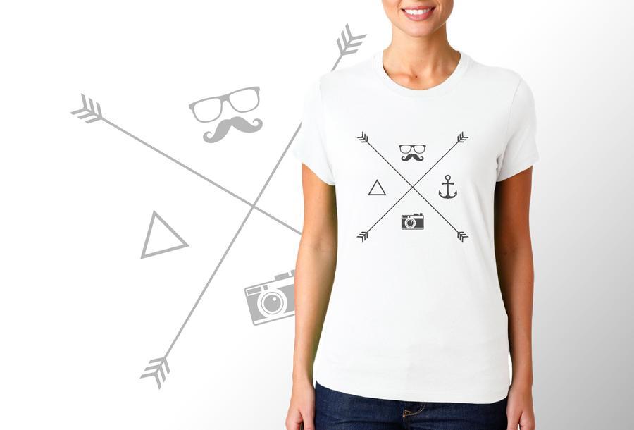 T-shirt Elementi Hipster/Donna