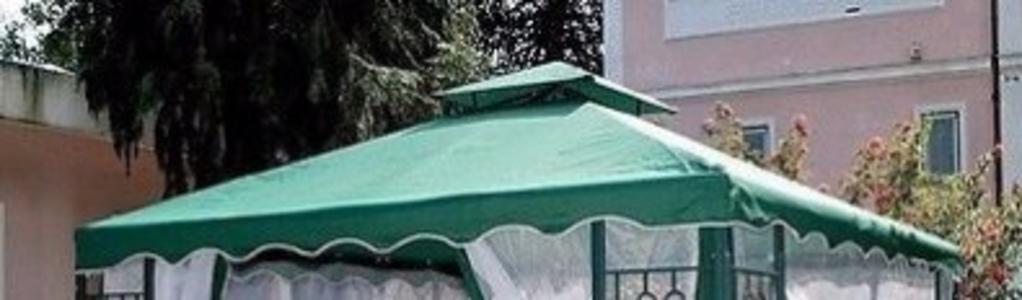 Telo copertura di ricambio ADOLFO VERDE per gazebo 3x3 mt Ecru in poliestere con Airvent separato