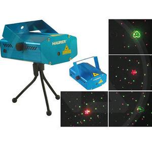 Proiettore Luci LASER LED colori rosso verde 4 FUNZIONI per interno con supporto