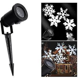 Proiettore natalizio Luci LED FIOCCHI DI NEVE luce bianca per interno esterno