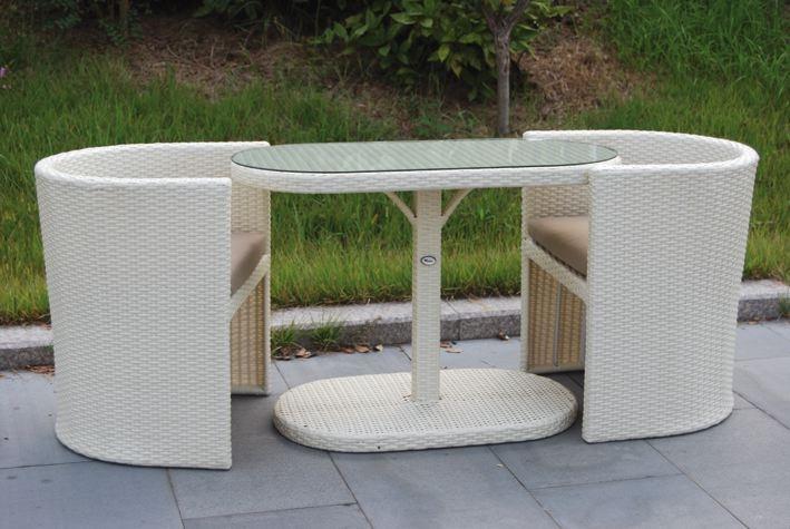 Salotto da giardino in polyrattan col bianco mod taormina for Salottino da esterno offerte