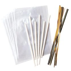 Set 18 bastoncini per lecca lecca cm 11,4 con sacchetti Wilton