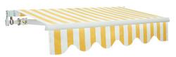 Tende da sole avvolgibile a sbraccio per esterno 295x200 in kit righe bianco-giallo