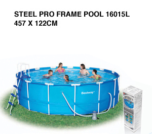 Piscina bestway steel pro frame circolare 56100 diam 457x - Piscina bestway opinioni ...
