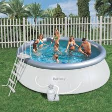 Piscina bestway autoportante tonda 57242 457 x 122 e pompa for Piscina 457 x 122