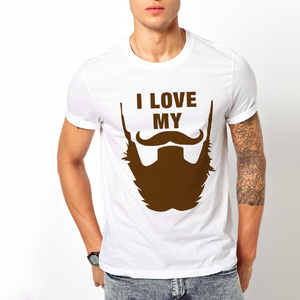 T-shirt I love my beard/Uomo